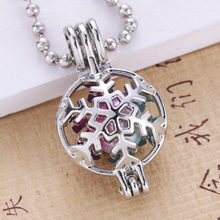 10PCS/Lot Pearls Cage Locket Necklaces Aroma Diffuser Necklace Pendant Perfume Essential Oil Aromatherapy Locket Necklace 030208(China)