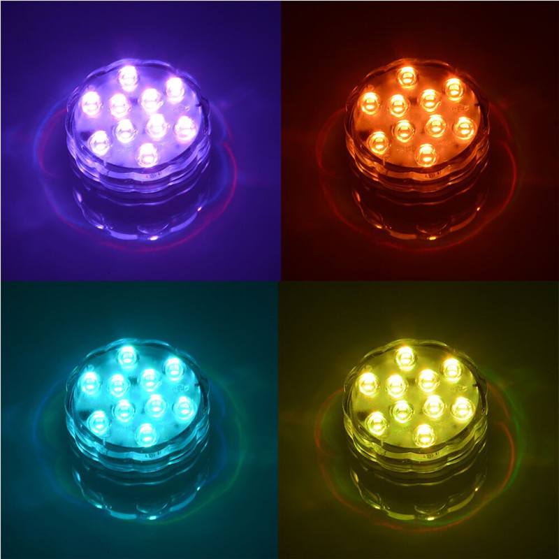 LED Submersible Candle Floral Tea Light Flashing Waterproof Wedding - Night Lights - Photo 4