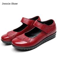 Cow Leather Genuine Leather Women Shoes Comfortable And Soft Flats Shoes Sys 957