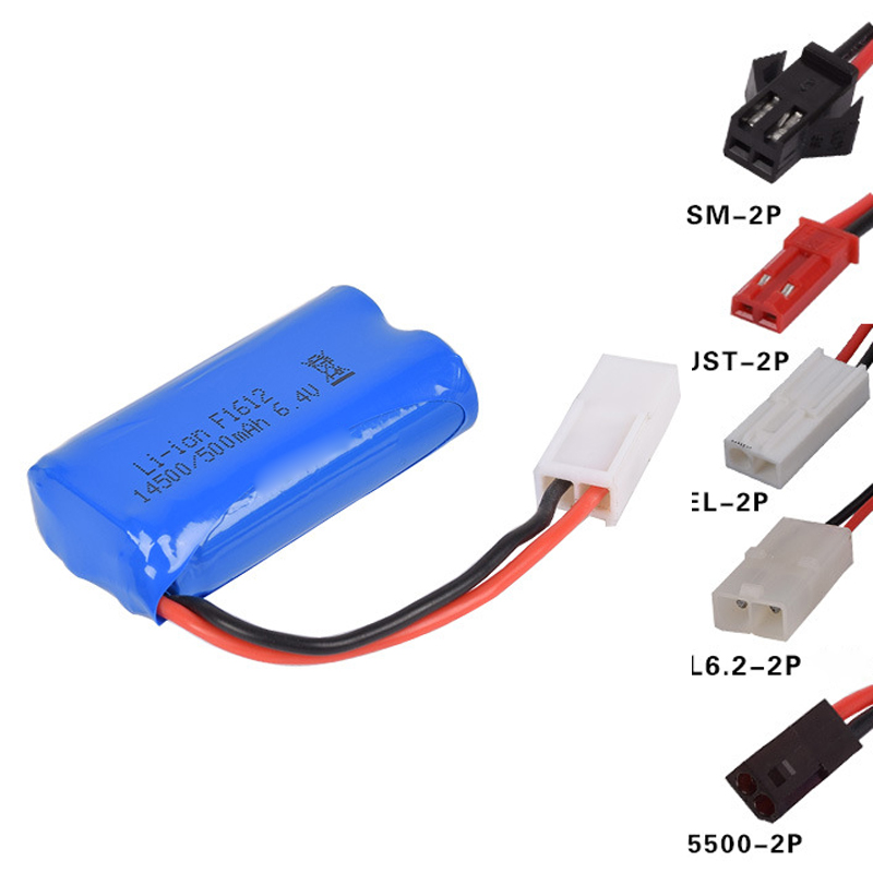 US $9.99  6.4v 500mah 15C 14500 akumulator litowo jonowy RC bateria do zabawek SM 2P JST 2P EL 2P L6.2 2P darmowa wysyłka battery rc rc batterybattery