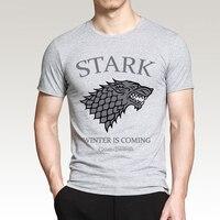 Игра престолов дом Старков зима приближается футболка 2019 лето для мужчин короткий рукав Футболка 100% хлопок футболки хип хоп футболки