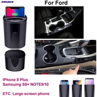 Qi carro de carregamento sem fio rápido suporte do telefone carregador rápido para ford focus mondeo fusão borda