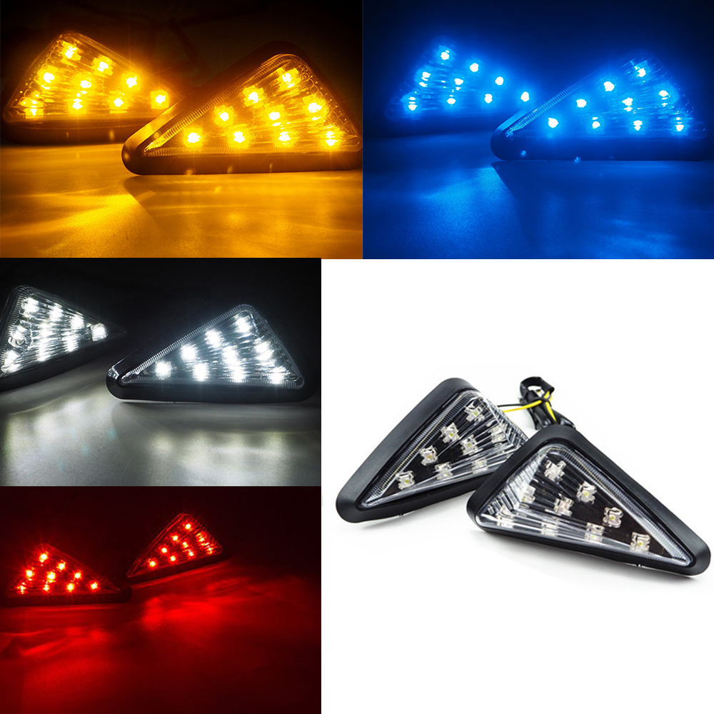 Lights-Lamp Motocycle-Accessories Signal-Indicator Motorbike Universal Turn 2pcs 12V title=