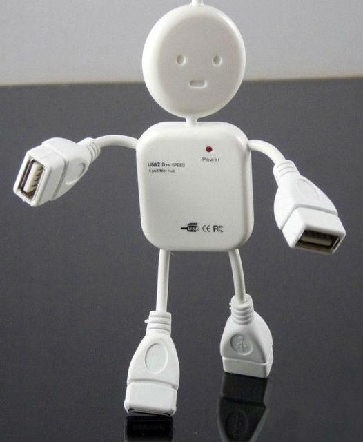 the new arrival HI-SPEED USB 2.0 4 port USB HUB Doll shape usb hub