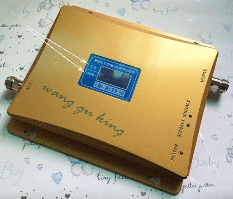 GSM 2G 3G répéteur LCD affichage double bande GSM900 WCDMA 2100 amplificateur de Signal amplificateur de Signal Mobile GSM 3G UMTS répéteur
