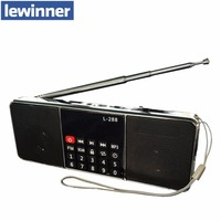 Original lewinner L 288 Portable FM Radio Speaker Music Player With TF Card USB Disk Input LCD Screen Speakers