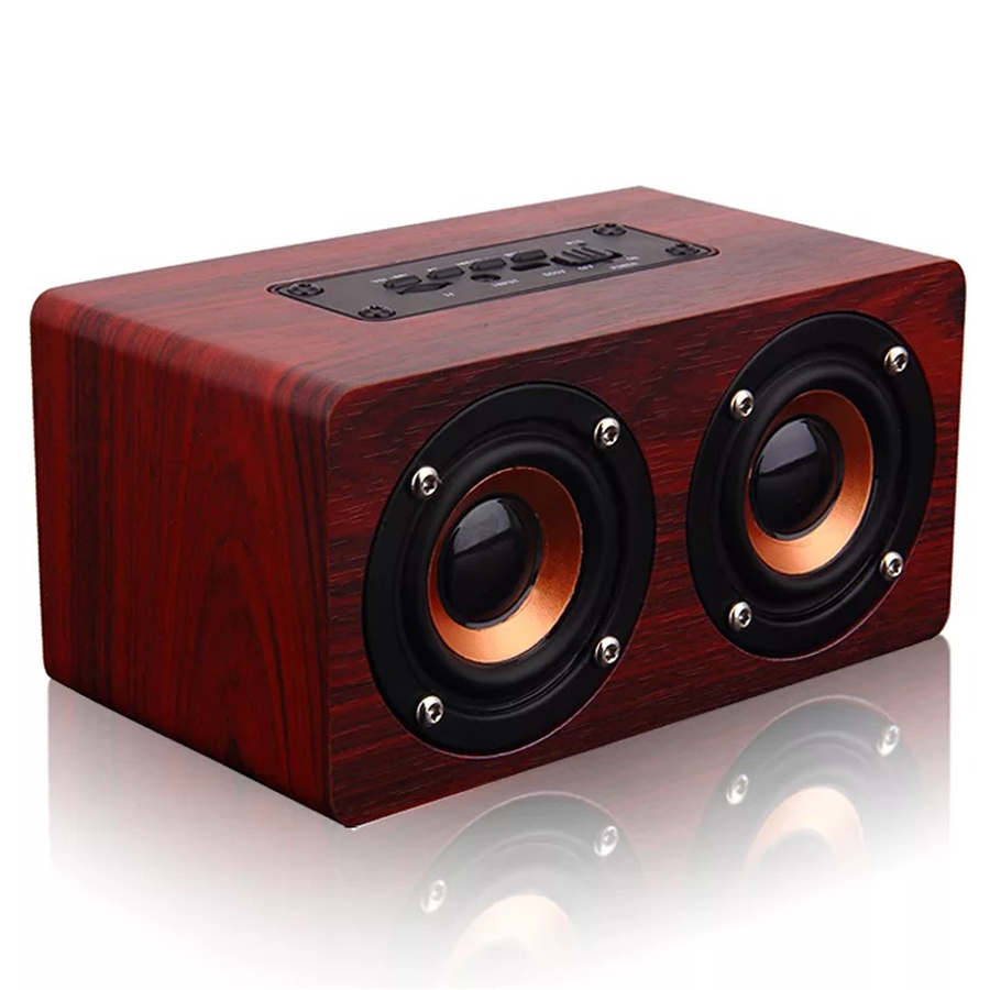 2018 New wood portable Bluetooth speaker 10 W Support AUX 32G TF card for phone PC with microphone powerful wireless speaker