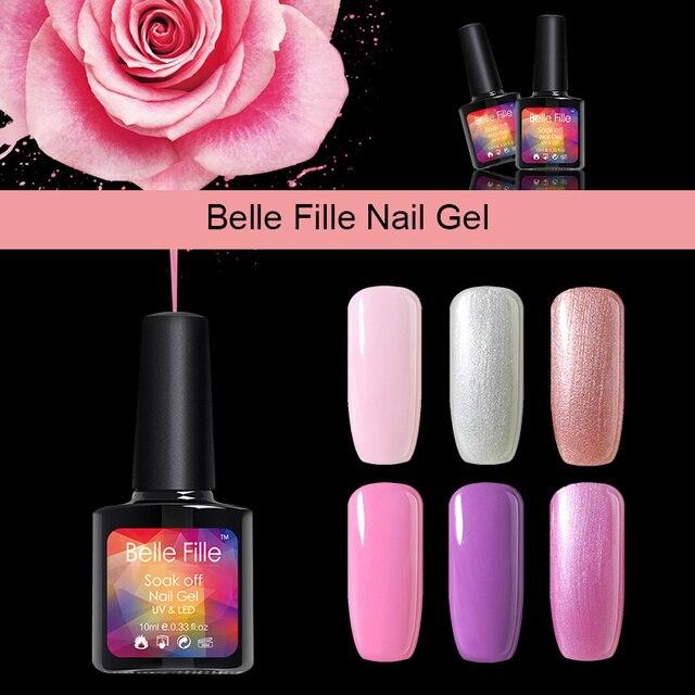 308 Belle Fille Gel Vernis à Ongles Soak Off Princesse Poudre Minicure Uv Gelpolish Rose Couleur Gel Nail Art Manucure Vernis Conception Dans Nail