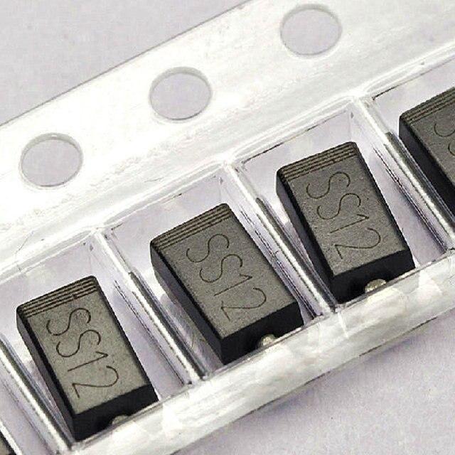 MCIGICM 100 stücke ss12 sma 1n5817 smd 1A 20 V do-214ac Schottky diode
