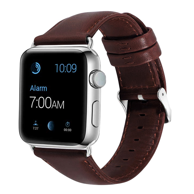 Genuine Leather Watch Band 44mm 40mm For Iwatch Series 4 Cowhide Bracelet Wristbands 42mm 38mm Strap For Apple Watch 2 Iphone 3