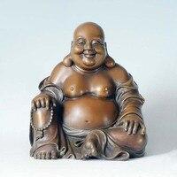 ATLIE BRONZES Bronze Buddha Laughing Maitreya Statue Sculpture Gifts Religious Figure Buddha