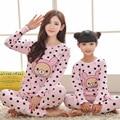 2017 Matching Mother and Daughter Clothes Family Christmas Pajamas Kids Cotton Pijamas Pyjamas Fille Long Sleeve Clothing Set