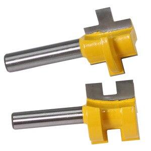 Image 4 - 2 pcs 8mm שוק גילוף סכין כיכר שן T חריץ טחינת מחבר קאטר נתב עץ כלי נגרות