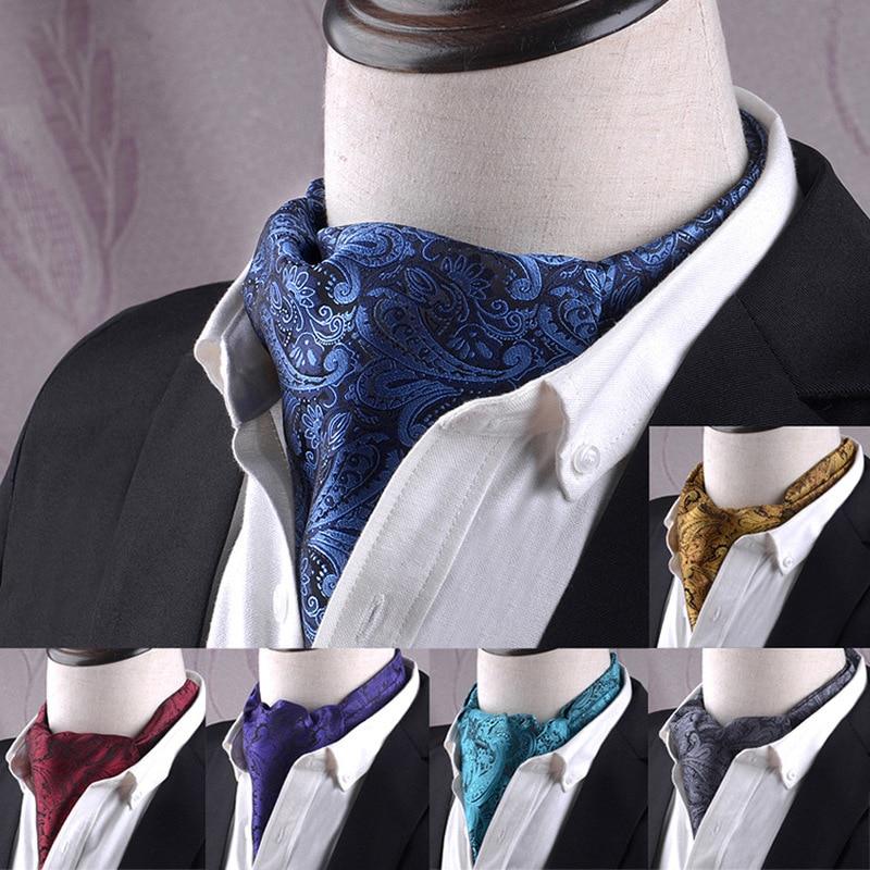 Helisopus Men's Cravat Ties Jacquard Polka Dot Vintage Neck Tie Men's Fashion British Style Luxury Tie Gifts For Men