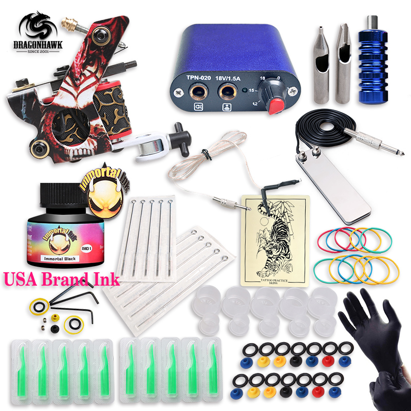 Free ship cheap beginner tattoo kit with hot sales usa for Cheap tattoo supplies free shipping