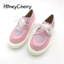 Solos zapatos lolita amor cinta plataforma de zapatos de un solo zapatos de las mujeres ocasionales