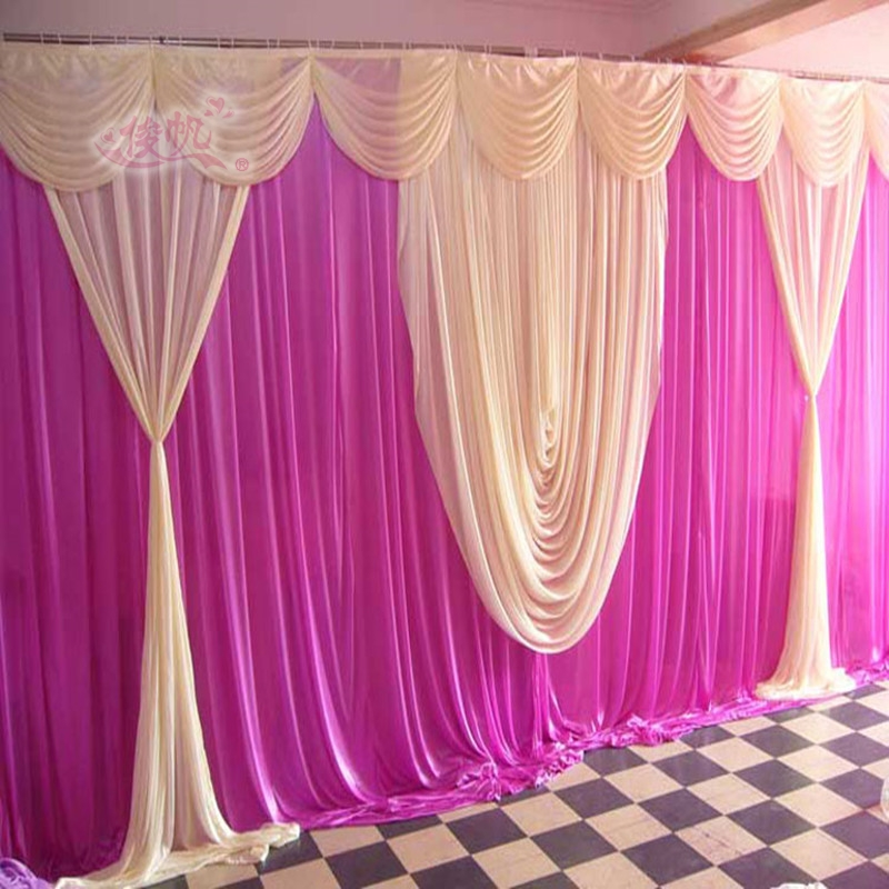 2017 wedding backdrops wedding stage swags decoration for Background curtain decoration