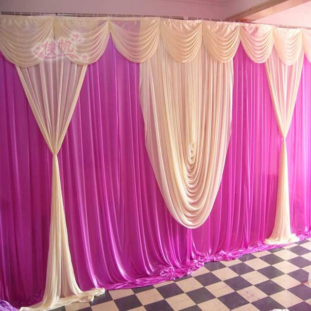 Diy Drapes For Wedding: 2017 Wedding Backdrops, Wedding Stage Swags Decoration