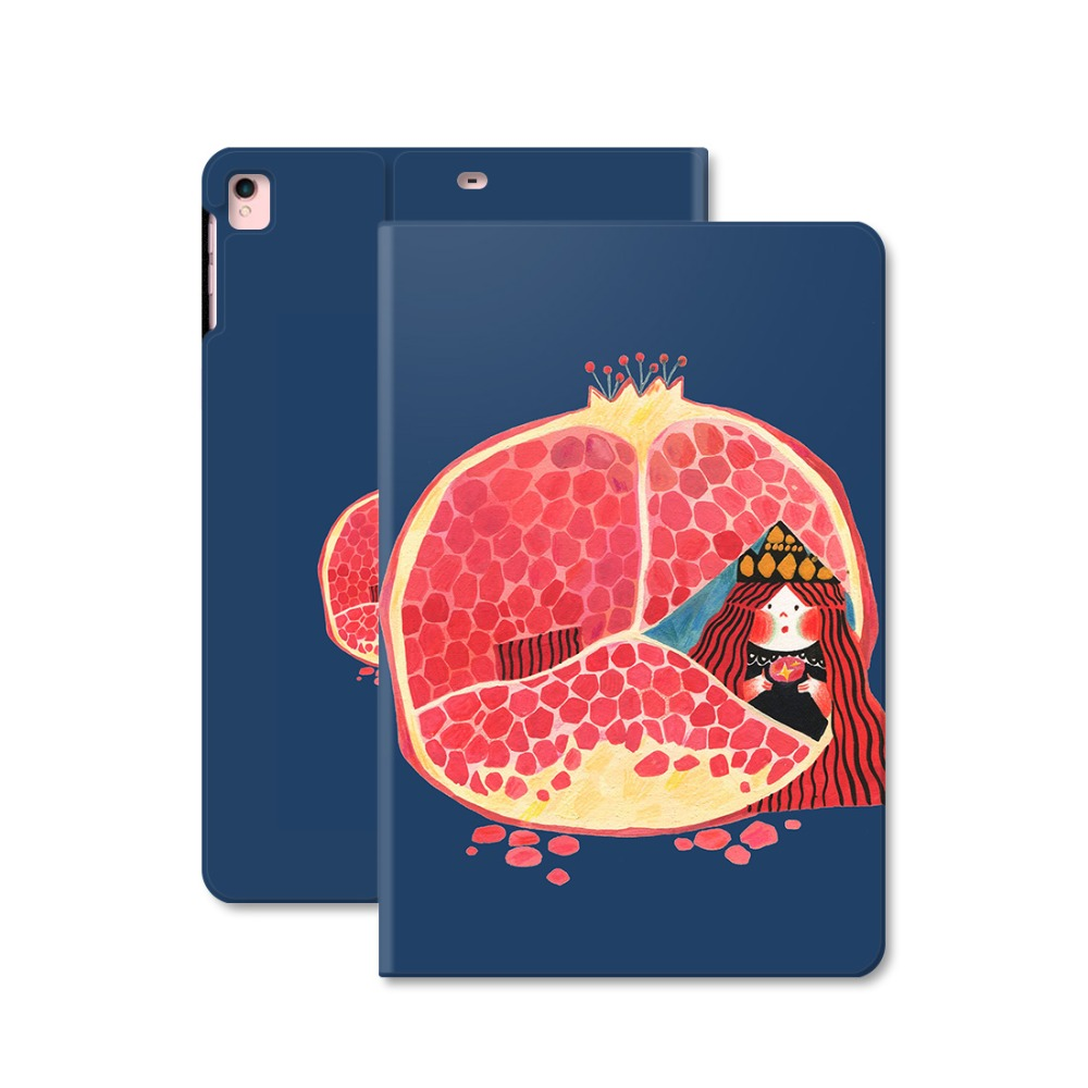 Pomegranate Girl Smart Leather Case Flip Cover For iPad Pro 9.7 10.5 Air Air2 Mini 1 2 3 4 Tablet Case For New ipad 9.7 2017 leather case flip cover for letv leeco le 2 le 2 pro black