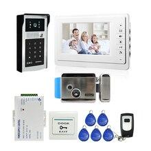 FREE SHIPPING New 7 Color Screen Video font b Door b font Phone Doorbell Intercom RFID