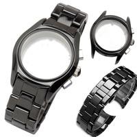 Zhuolei загнутым концом керамический ремешок для часов стали для 22 мм AR1400 AR1410 человек часы Браслет Бабочка Пряжка ремень аксессуары инструмент