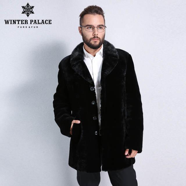 Online Shop Winter Men black leather mouton fur coat Turn-down Collar fur  coat Imported high-grade sheepskin coats Mature man symbol real |  Aliexpress ...