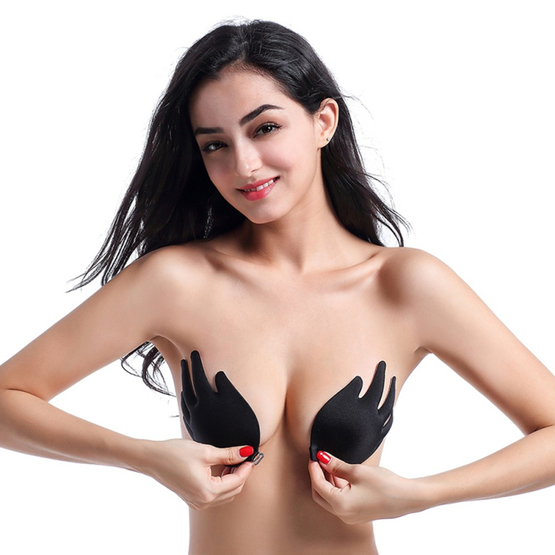 bd0800f2e0d Novelty   More Exotic Apparel Adhesive Backless Push Up Plunge Nipplecovers Sticky  Invisible Strapless Bra Breast Lift Nipple Cover