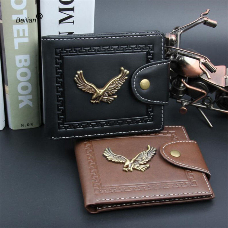 2018 Vintage Metal Eagle Men Wallets Clutch