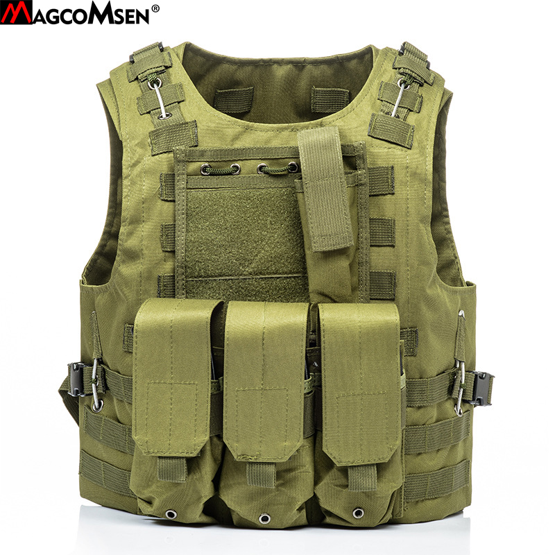 MAGCOMSEN Tactical Vest Military Molle Protection Equipment Combat Assault Body Safety Waistcoat 600D Nylon Camo Army Vest XS-02
