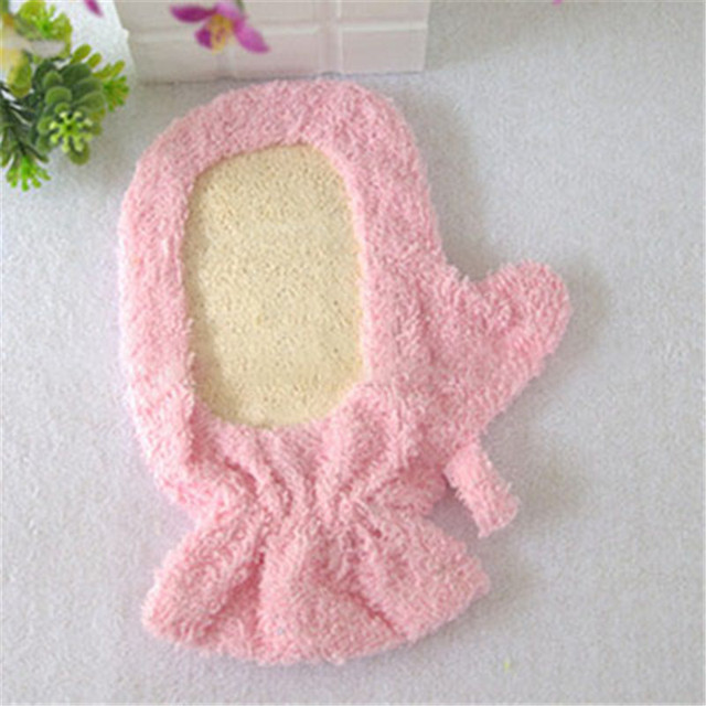 Luckyfine Bath Body Exfoliating Sponge Massage Shower Bath Gloves Exfoliating Shower Scrubber Puff Pad Brush 1