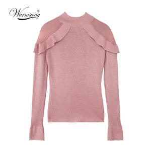 WARMSWAY knitwear women slim Pullover Sweater top