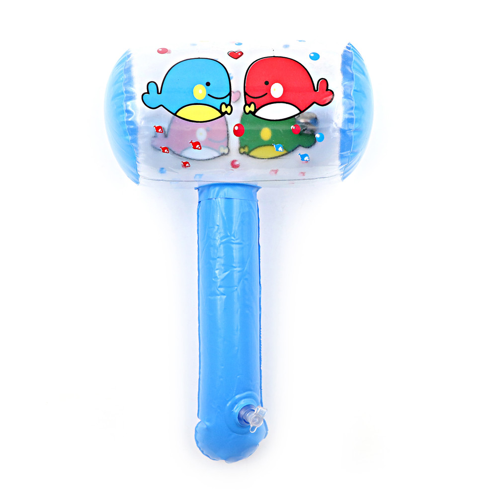 1Pc Cute Cartoon Inflatable Hammer Air Hammer With Bell Kids Children Blow Up Noise Maker Toys Color Random