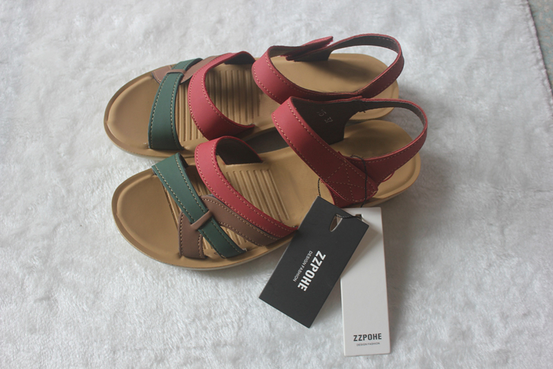 Women's Soft Leather Casual Comfortable Non-slip Flat Sandals
