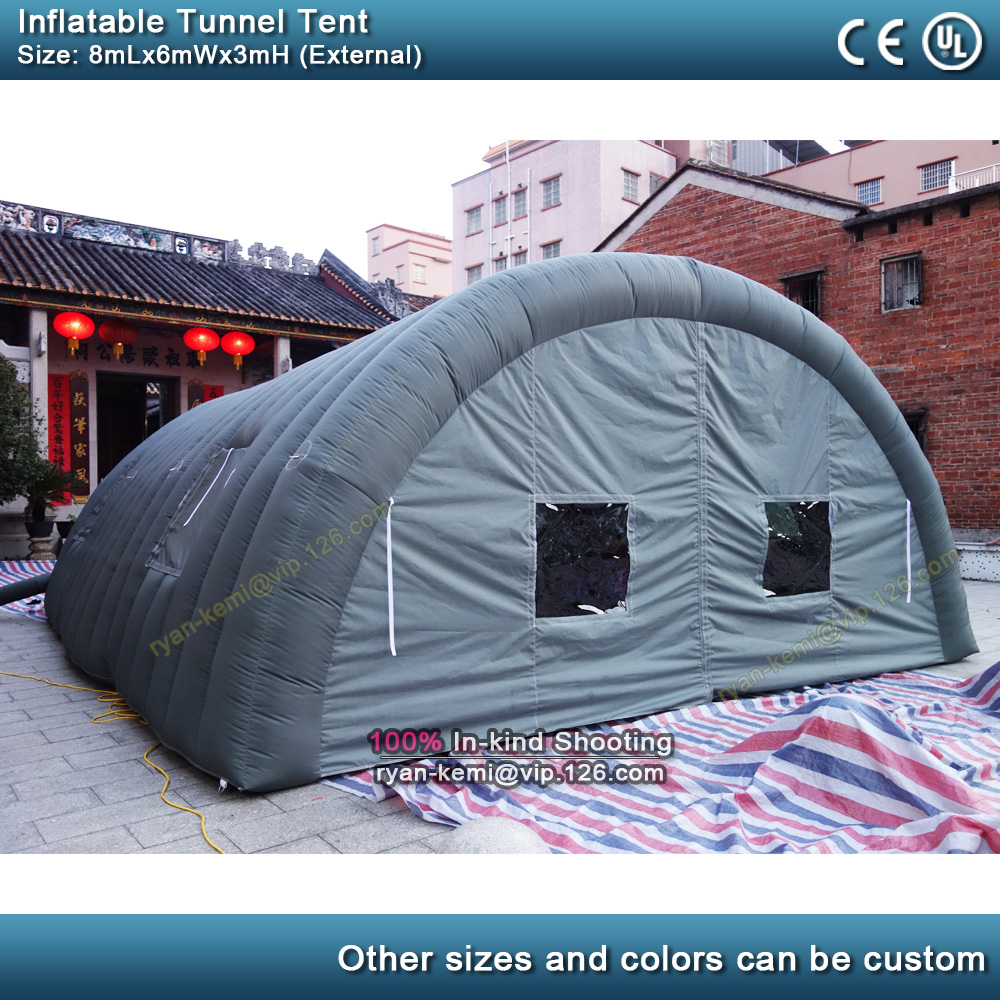 8x6x3m inflatable football sports tunnel tent outdoor inflatable cover marquee inflatable garage play film cinema movie tent image