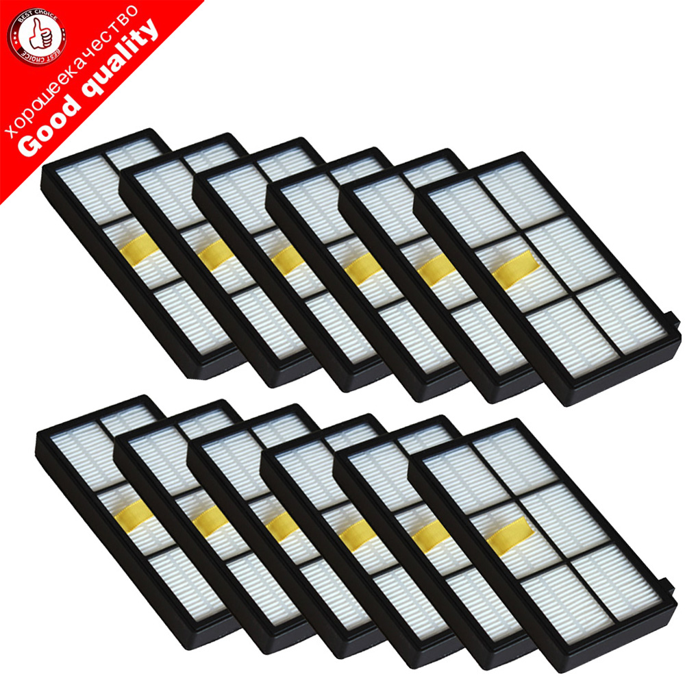 12pcs Heap filter kit for iRobot Roomba 800 900 Series 870 880 980 Vacuum Cleaner Accessories parts replacement 12pcs heap filter fit for irobot roomba 800 900 series 870 880 980 vacuum cleaner accessories parts replacement