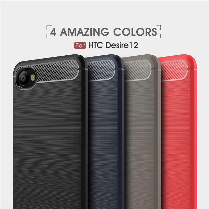 ل غطاء HTC الرغبة 12 حالة الفاخرة درع المطاط سيليكون علبة هاتف خاصة بهواتف HTC الرغبة 12 الغطاء الخلفي ل HTC الرغبة 12 D12 قذيفة