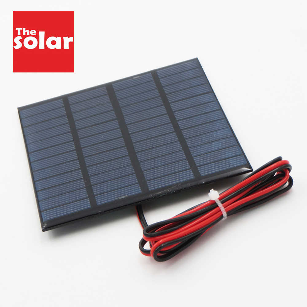 DC 12V cargador de batería de panel Solar Mini Sistema Solar DIY para la batería del teléfono celular del coche autobús 1,8 W 1,92 W 2W 2,5 W 3W 1,5 W 4,5 W 5W