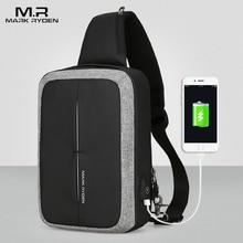 Mark Ryden New Men Crossbody Bag Business Shoulder bag High Capacity Chest Bag USB Recharging Design