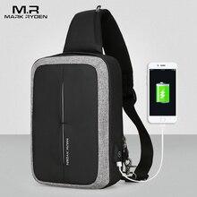 Mark Ryden nouveaux hommes sac à bandoulière affaires sac à bandoulière haute capacité poitrine sac USB recharge conception