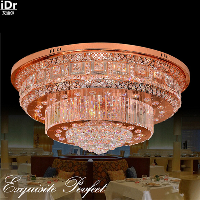 Kristall Licht Traditionelle Rund Wohnzimmer Lichter Schlafzimmer Beleuchtung Mit Der Neuesten LED Rose Gold Deckenleuchten Lmy