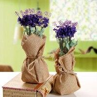1 Buket Yapay Çiçekler Ev Süslemeleri Sahte Çiçekler Keten Lavanta