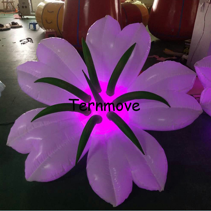 LED lighting giant inflatable flower decoration for wedding party hanging lily models toys balloon for sale free shippingLED lighting giant inflatable flower decoration for wedding party hanging lily models toys balloon for sale free shipping