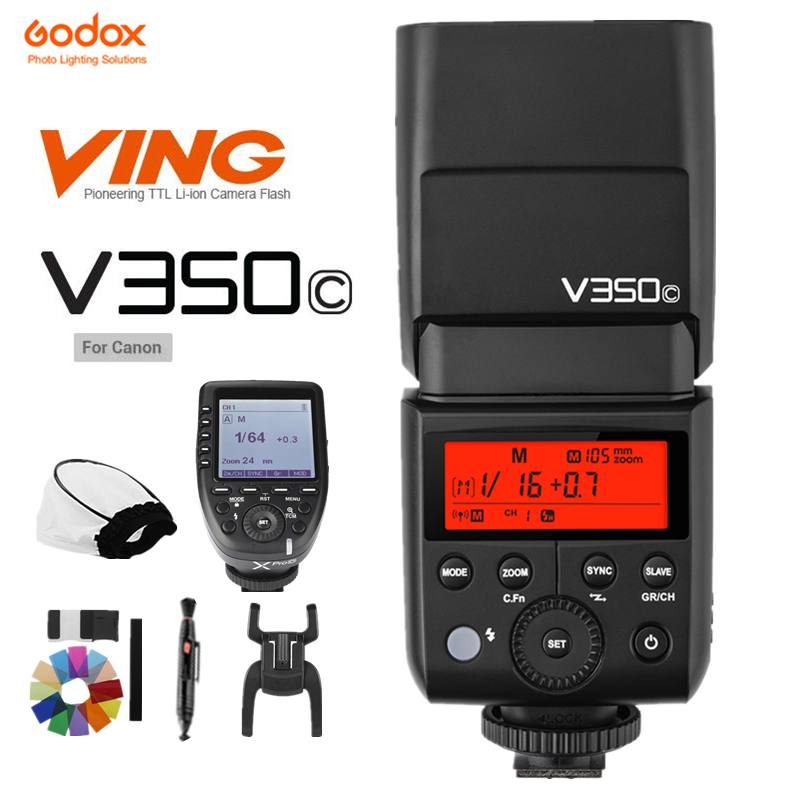 GODOX V350C TTL HSS 1/8000s 2.4G Wireless Li-ion Flash & XPro-C Trigger For Canon 5D Mark III 80 70 60 50 D 750 760D etc CameraGODOX V350C TTL HSS 1/8000s 2.4G Wireless Li-ion Flash & XPro-C Trigger For Canon 5D Mark III 80 70 60 50 D 750 760D etc Camera