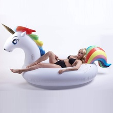 200cm Giant Inflatable Unicorn Pool Float Ride-On Pegasus Swimming Ring For Adult Children Water Party Toys Air Mattress boia