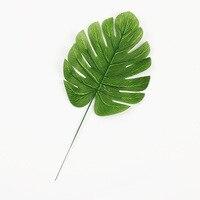 100 шт. обвинение ладони Monster листья зеленые растения шелк Reel свадебные подарки аксессуары DIY главная декоративные весло цветы