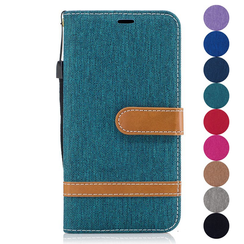 Fashion Case For Samsung Galaxy S7 G9300 S7 Edge G3500 PU Leather Pouch Denim Style Flip Wallet Stand Cover Pouch