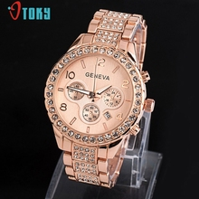 Wonderful High quality Watches Girls Luxurious Model Girls Metal Quartz Watch Informal Crystal Wristwatches Relogio Feminino Jan6