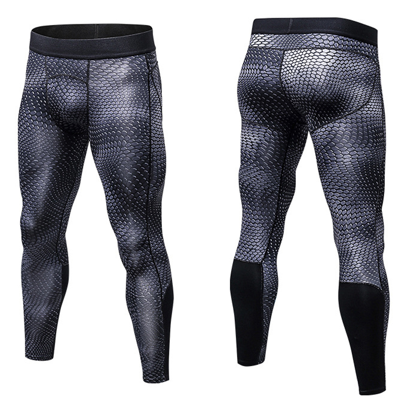 Men's tight pants 1Pcs Jogger Mens Compression Pants Bodybuilding pants