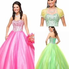 Quinceanera Dresses debutante gown Fashion Bling Beaded Satin Lace up Custom Made Plus Size Cheap Ball Gowns 2017 online Dress