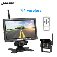 Jansite 7 Wireless Wired Car Monitor TFT Car Rear View monitor Parking Rearview System for Backup Reverse Cameras Support truck